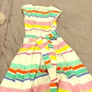 Kate Spade pleated multicolored dress